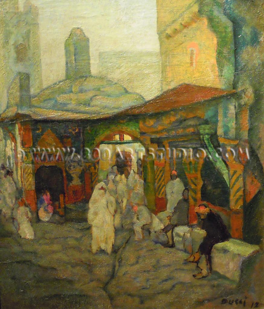 Anselmo Bucci - Arab market