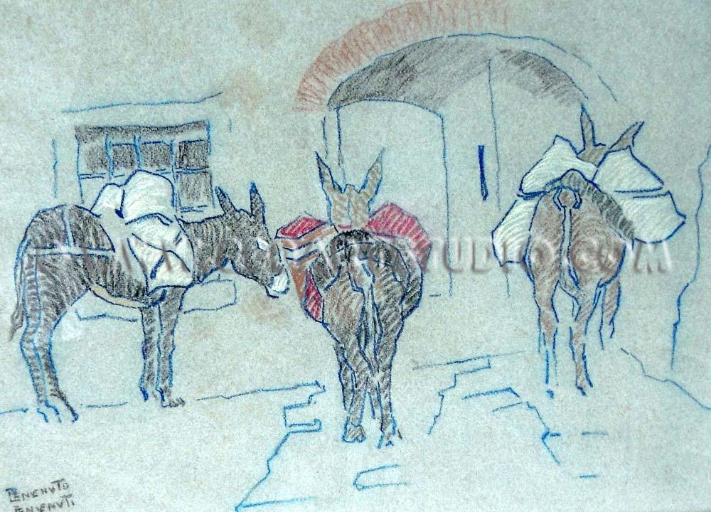 Benvenuto Benvenuti - The mules