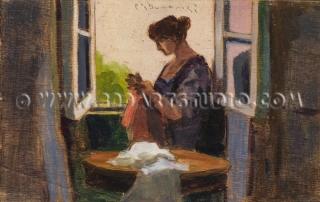 Carlo Domenici - At the window