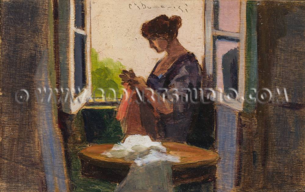 Carlo Domenici - At the window