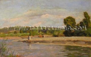 Carlo Domenici - On the Cecina river