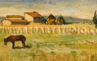 Giovanni Bartolena - Farmhouses with straw-huts