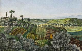 Giovanni Colacicchi - Pisa hills