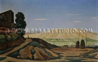 Giovanni Colacicchi - Landscape (Anagni)