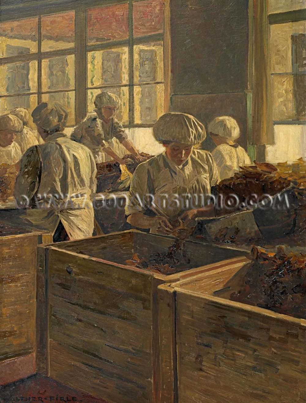 Walther Firle - The cigar makers