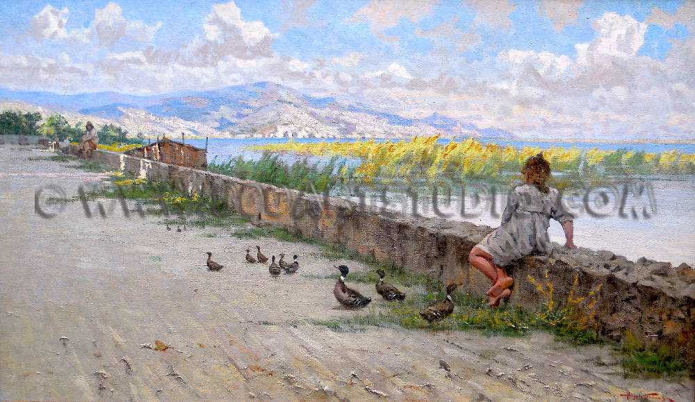 Angiolo Tommasi - In riva al lago