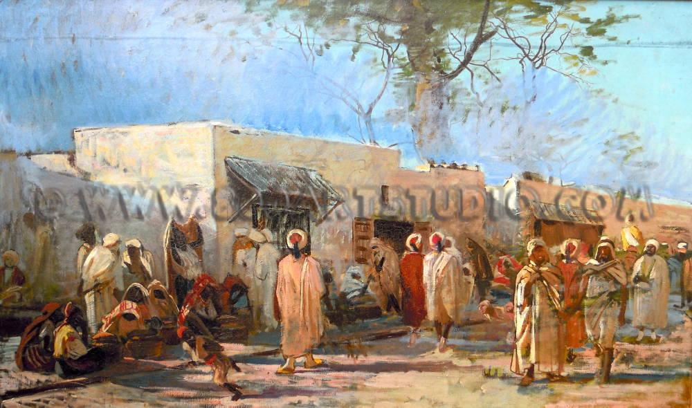 Eugenio Cecconi - Un mercato a Tunisi