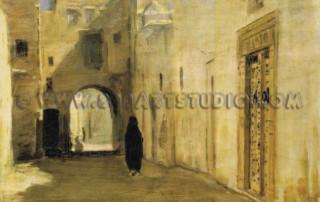 Francesco-Franchetti-Strada-araba-con-figura
