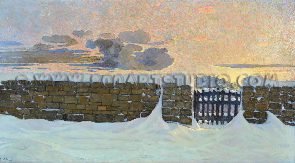 Galileo Chini - Il cancello
