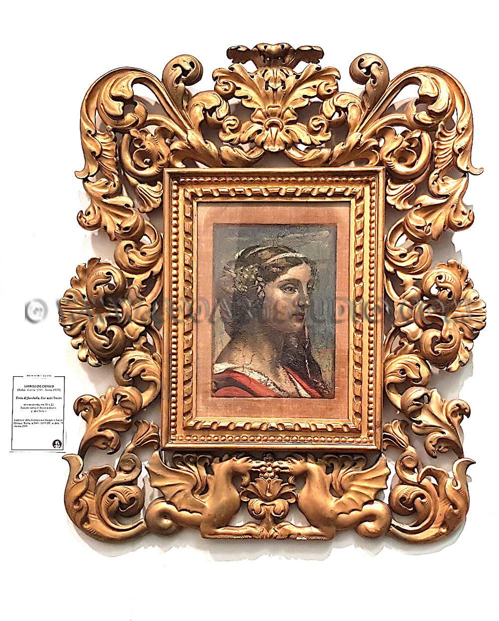 Giorgio de Chirico - Testa di fanciulla - Cornice