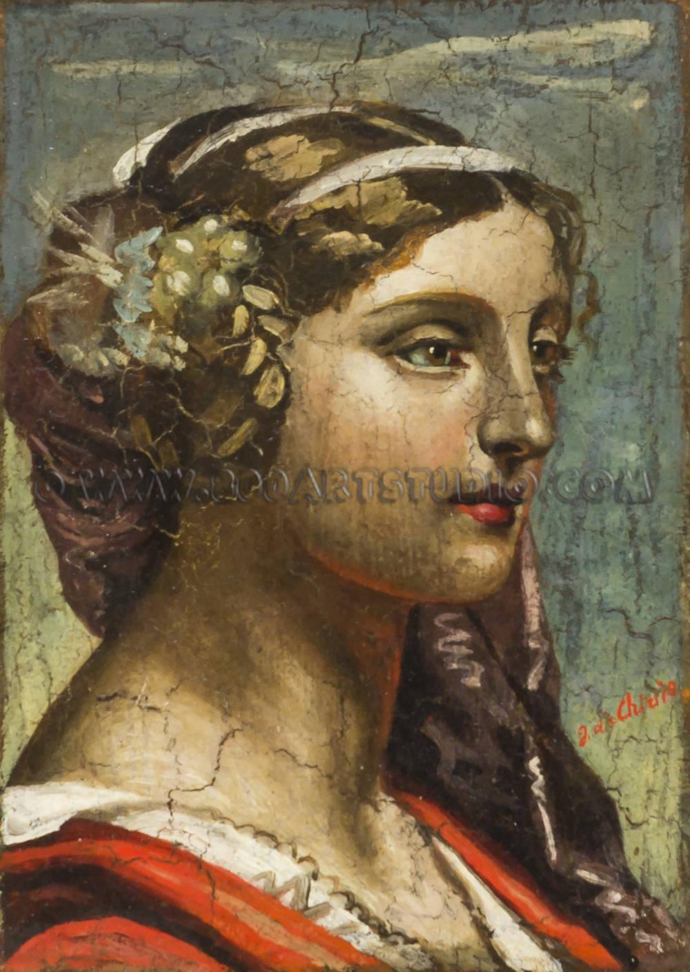 Giorgio de Chirico - Testa di fanciulla