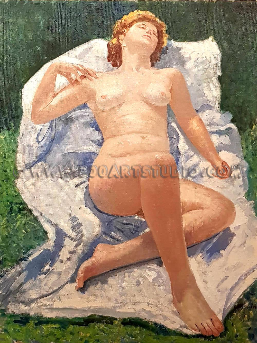 Giovanni Colacicchi - Nuda in riposo