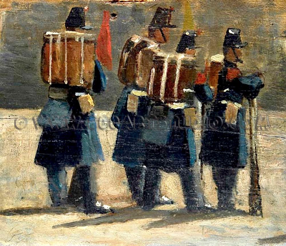 Giovanni Fattori - Soldati francesi del 1859 (Le reclute)