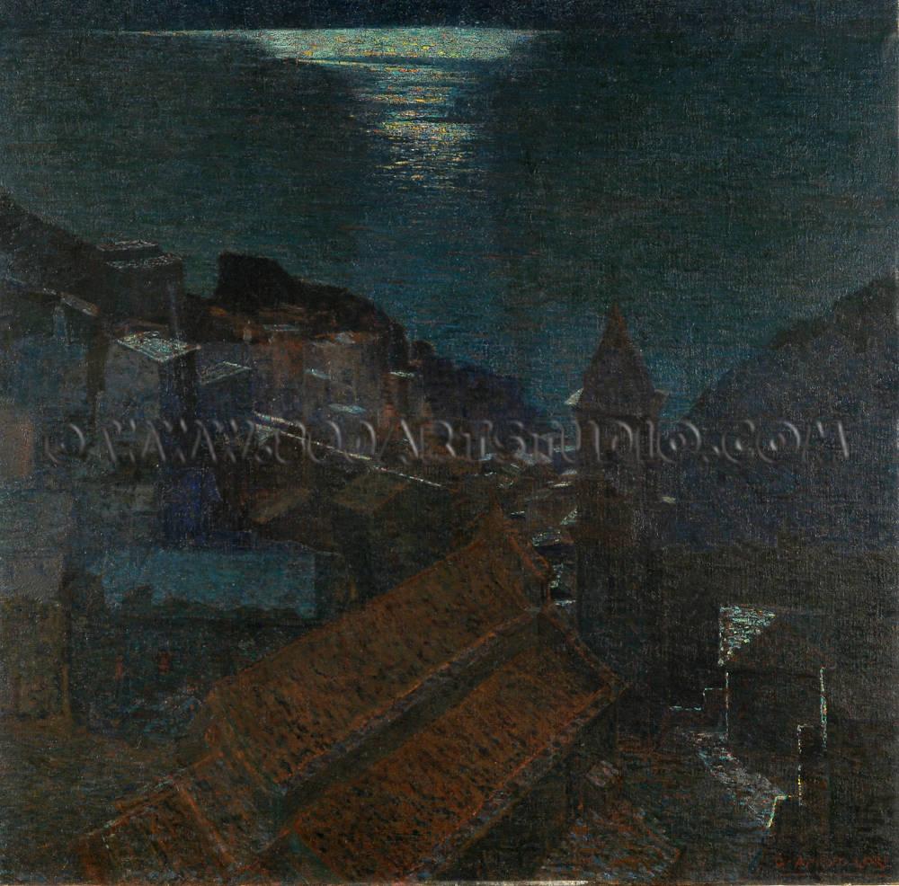 Guglielmo Amedeo Lori - Manarola sotto la luna