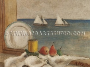 Guido - Peyron - Natura - morta - sul - mare