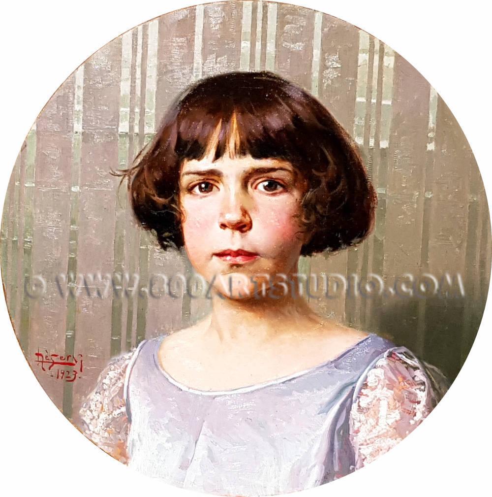 Luigi De Servi - Ritratto di giovinetta