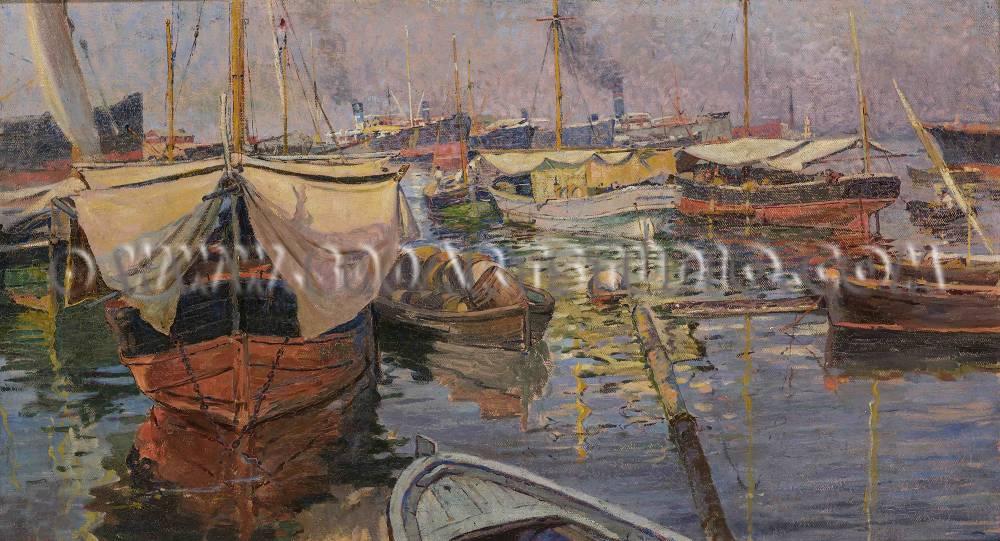 Micheli-Guglielmo-Il-porto-di-Livorno