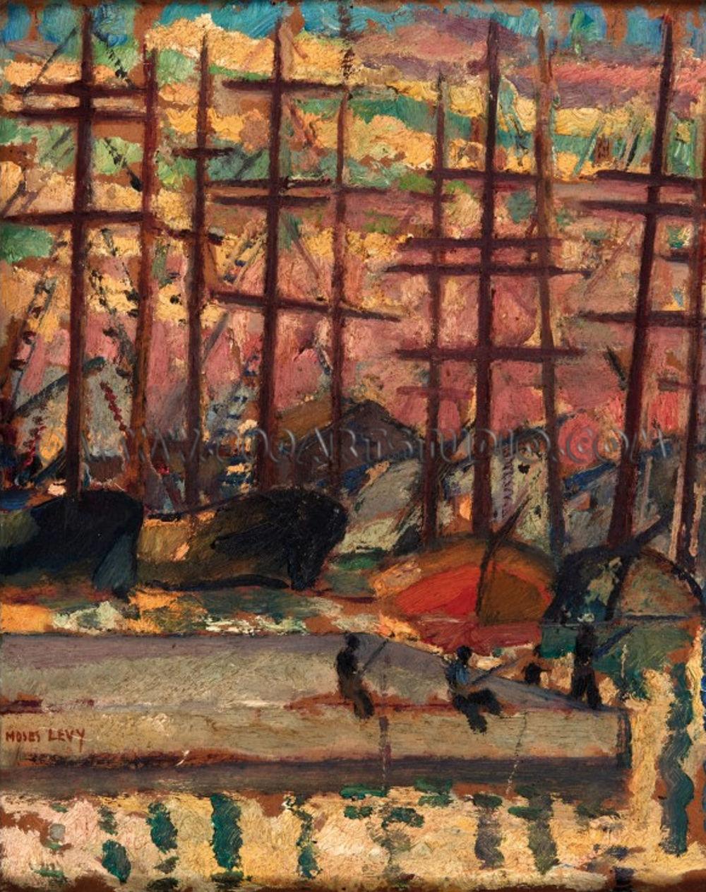 Moses Levy - Pescatori sul molo