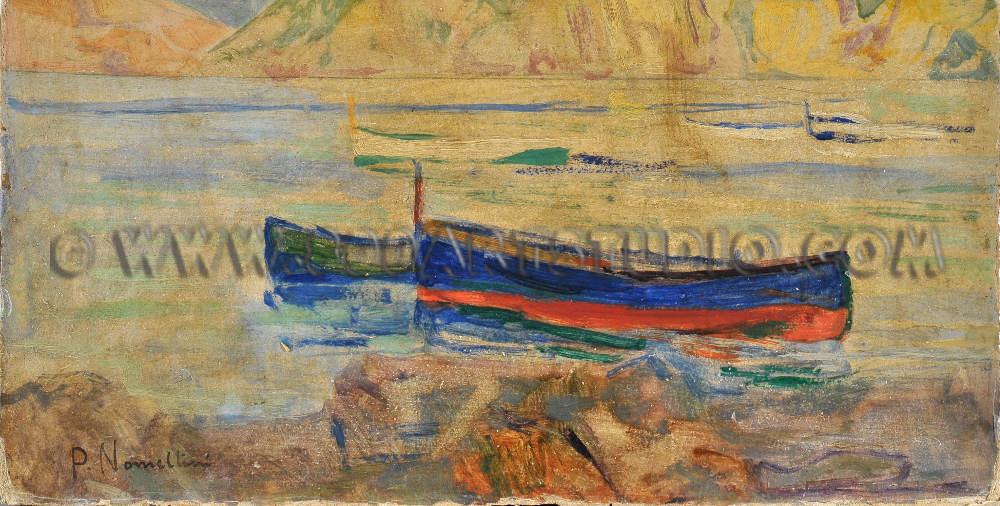 Plinio Nomellini - Barche