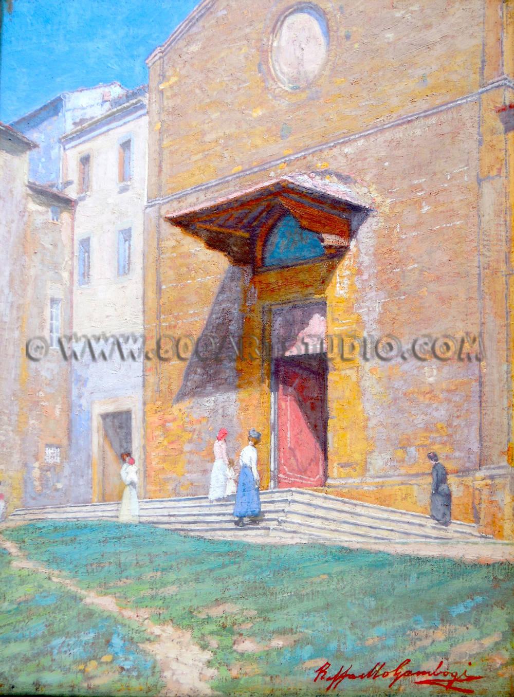 Raffaello Gambogi - La chiesa di San Francesco a Volterra