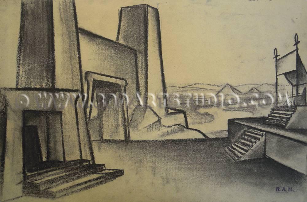 Ruggero Michaelles - RAM - Studio per l'allestimento dell'Aida