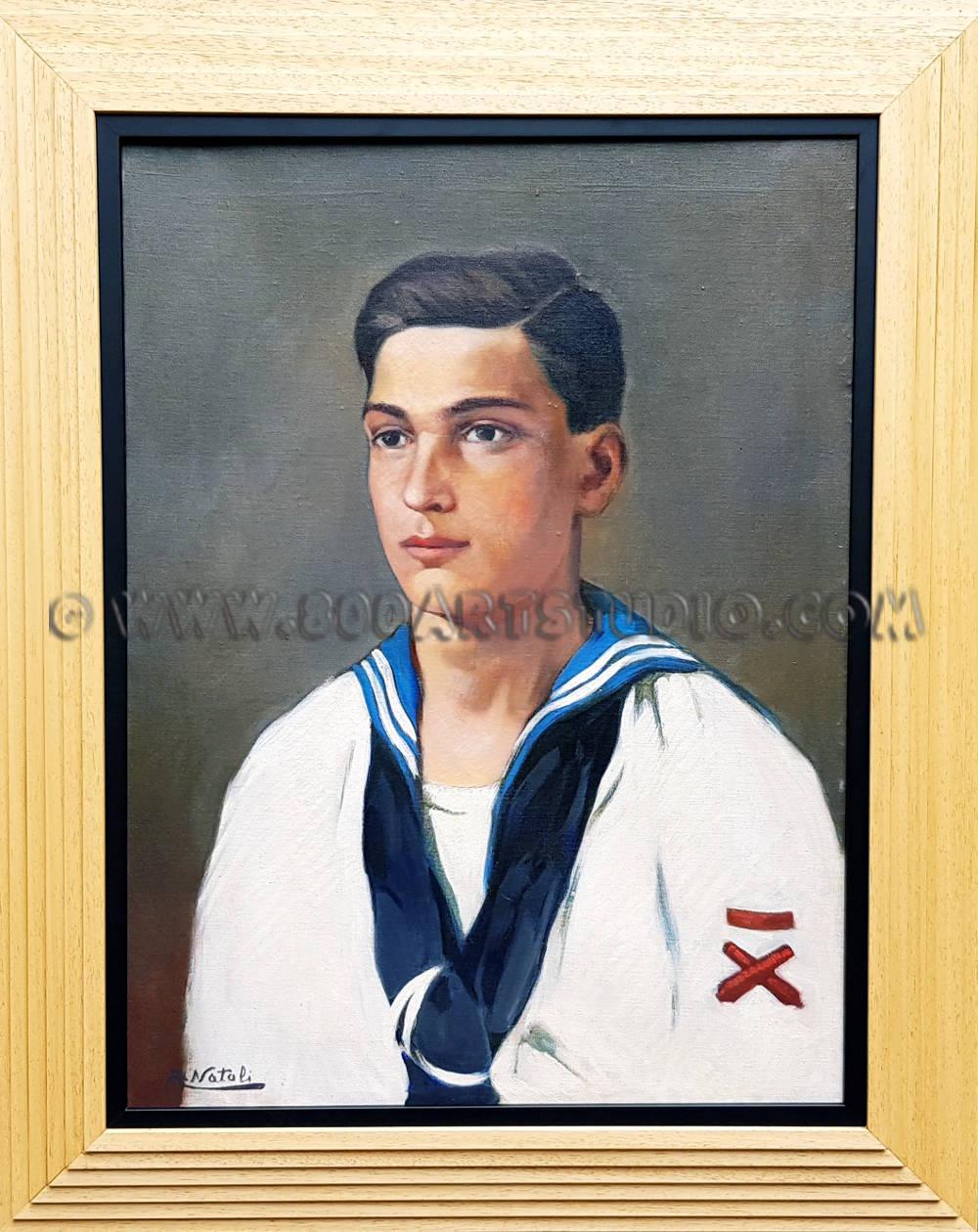 Renato Natali - Il cannoniere - con la cornice