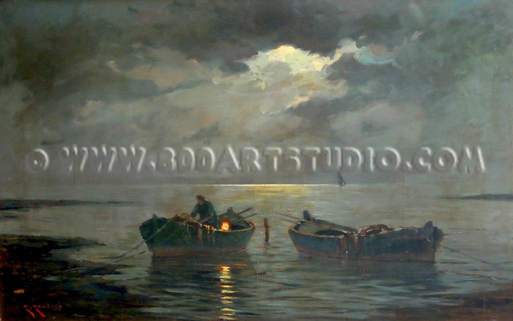 Renuccio Renucci - Pescatore al chiaro di luna