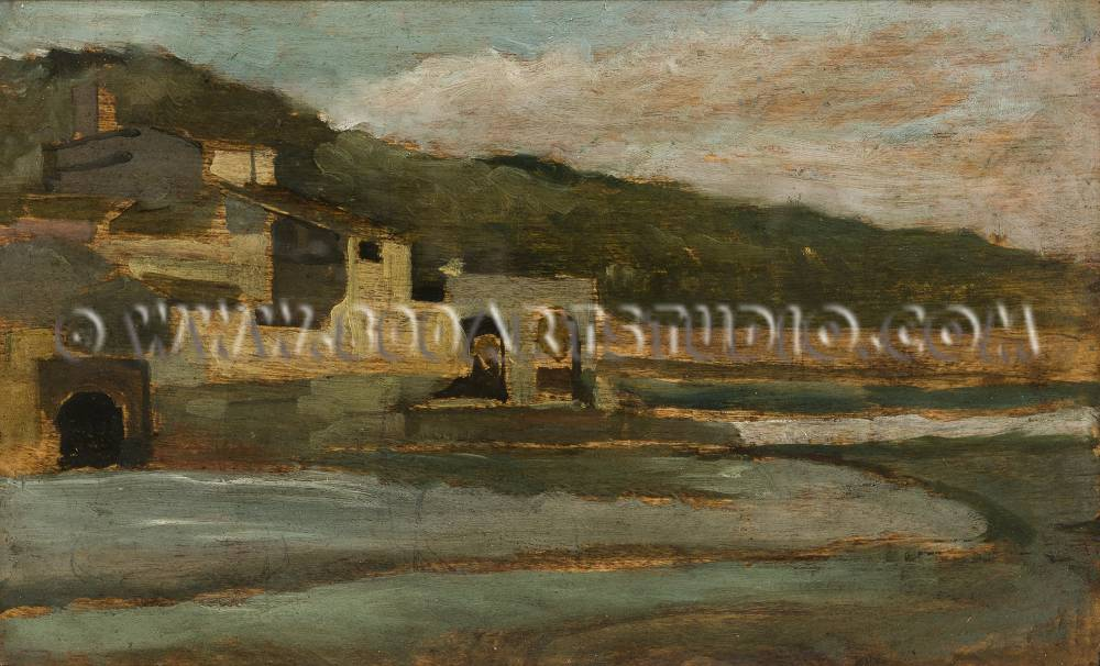 Silvestro Lega - L'Arno a Rovezzano