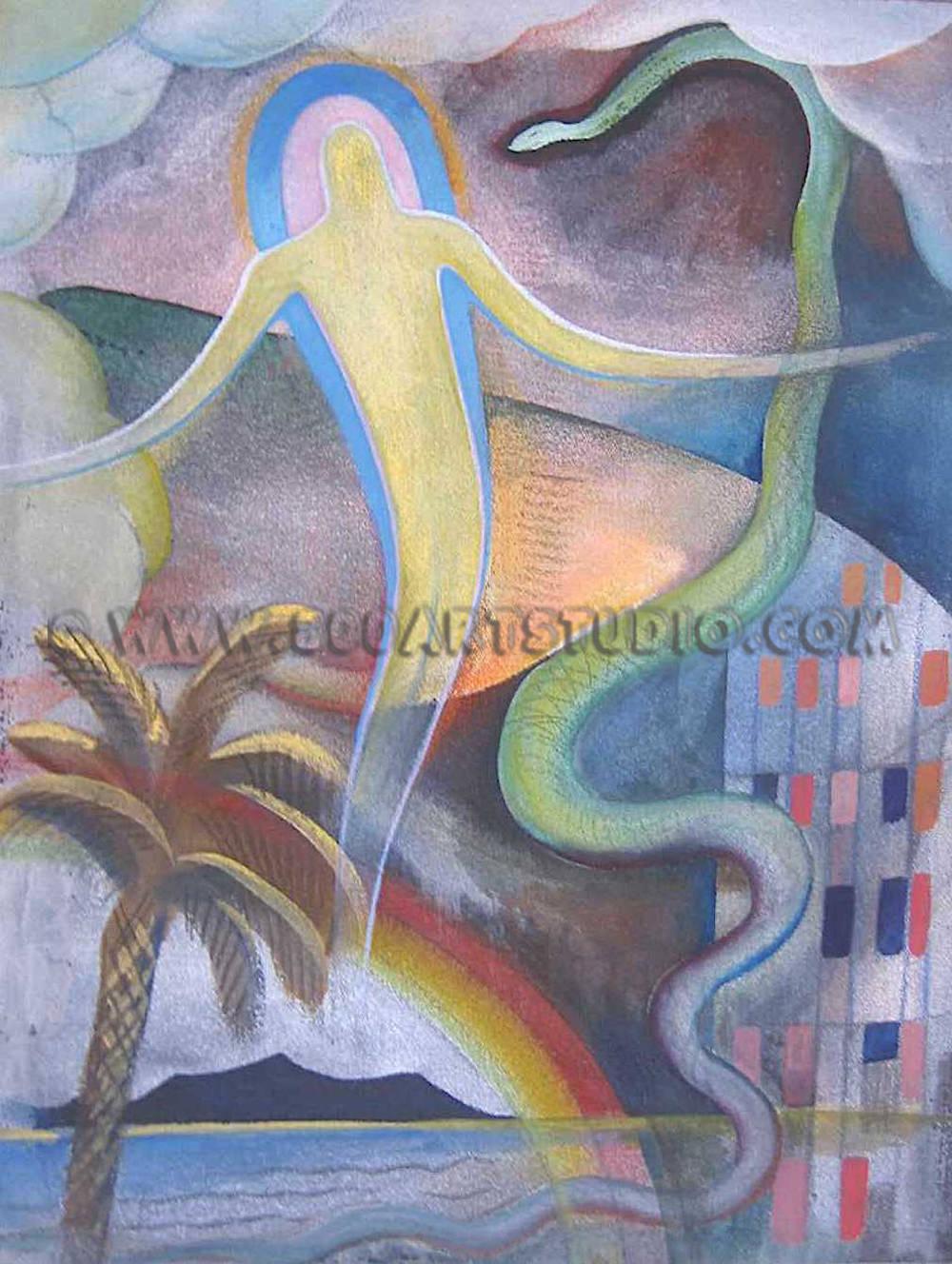 Ernesto Michahelles - Thayaht - Baruntico e serpente