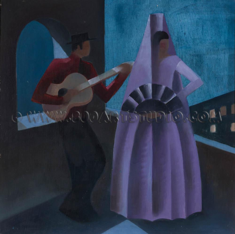 Ernesto Michahelles in arte Thayaht - La serenata