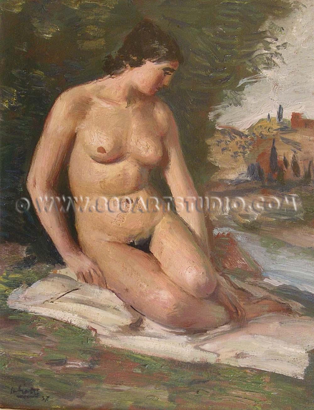Alberto Salietti - Nudo di donna
