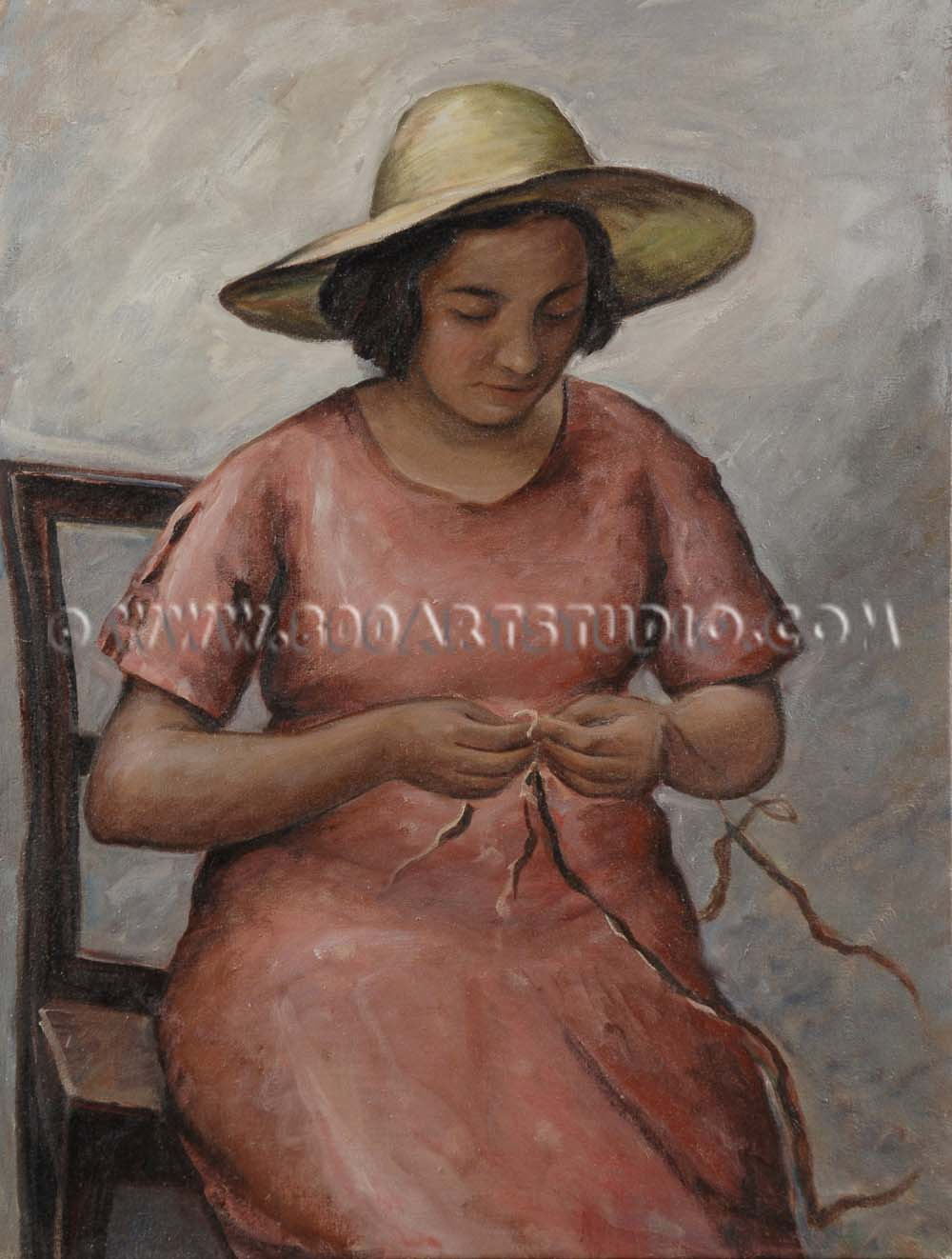 Alberto Zampieri - Figura con cappello