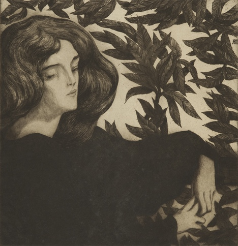 alfredo-muller-1897-1898-Béatrice-au-laurier
