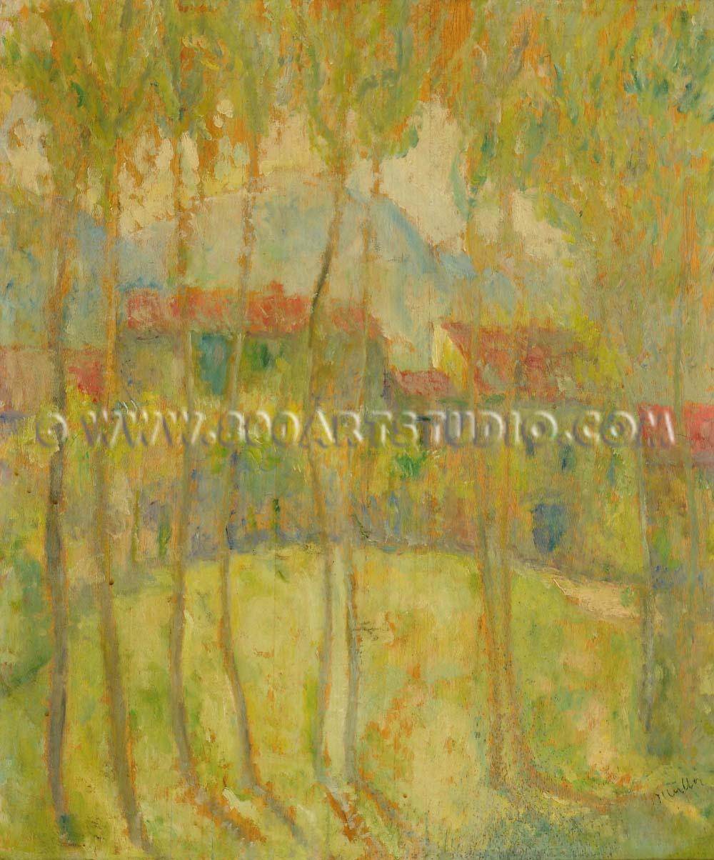Alfredo Müller - Casolare tra gli alberi