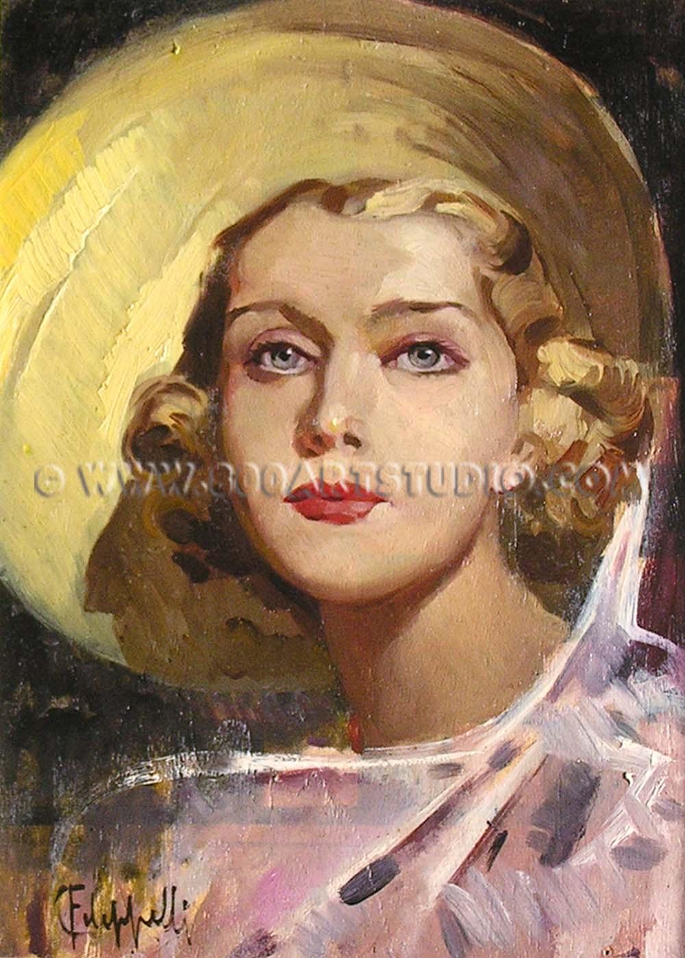 Cafiero Filippelli - Ritratto di ragazza