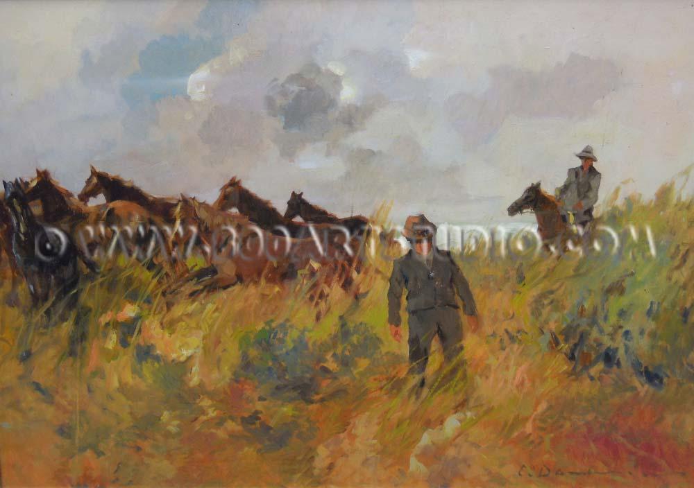 Carlo Domenici - Cavalli in corsa