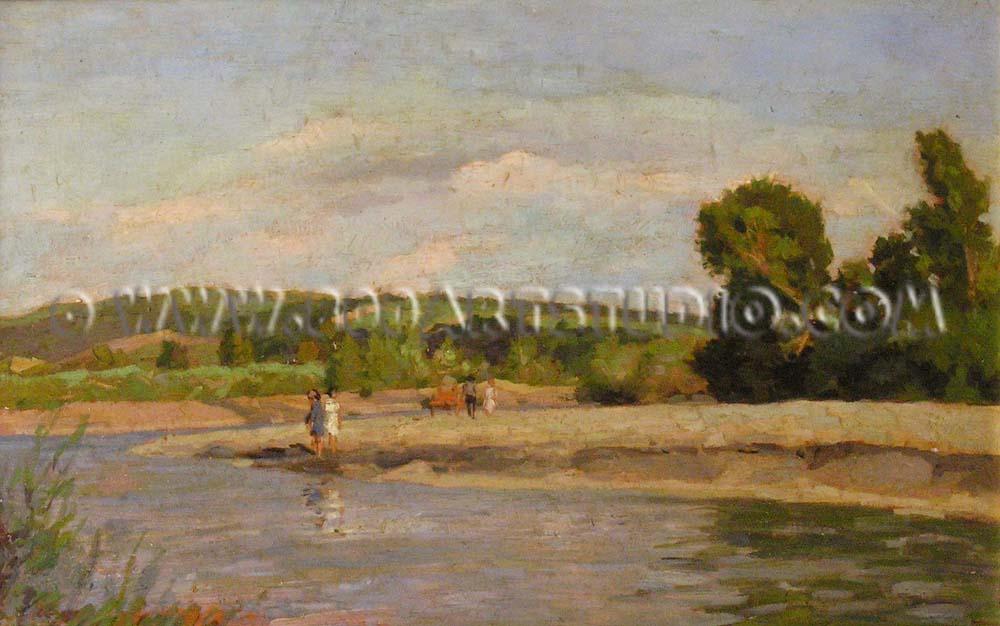 Carlo Domenici - Sul fiume Cecina