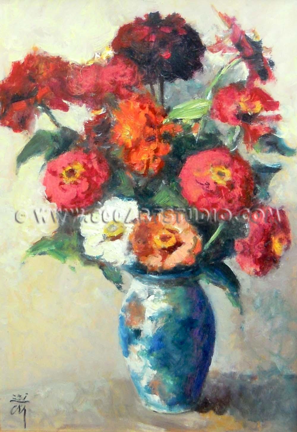 Corrado Michelozzi - Vaso con fiori