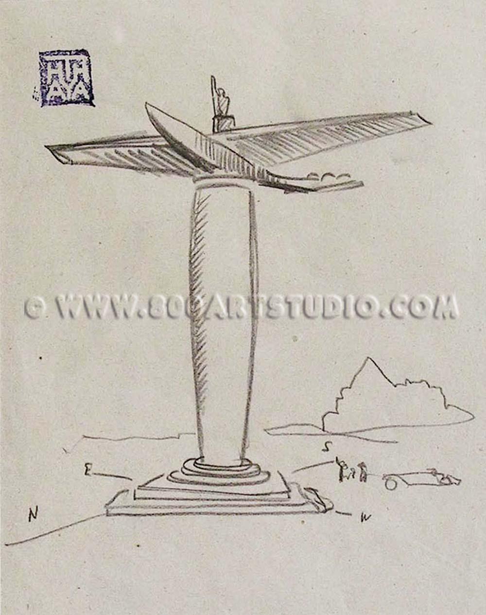 Ernesto Michahelles - Thayaht - Progetto per scultura aerea