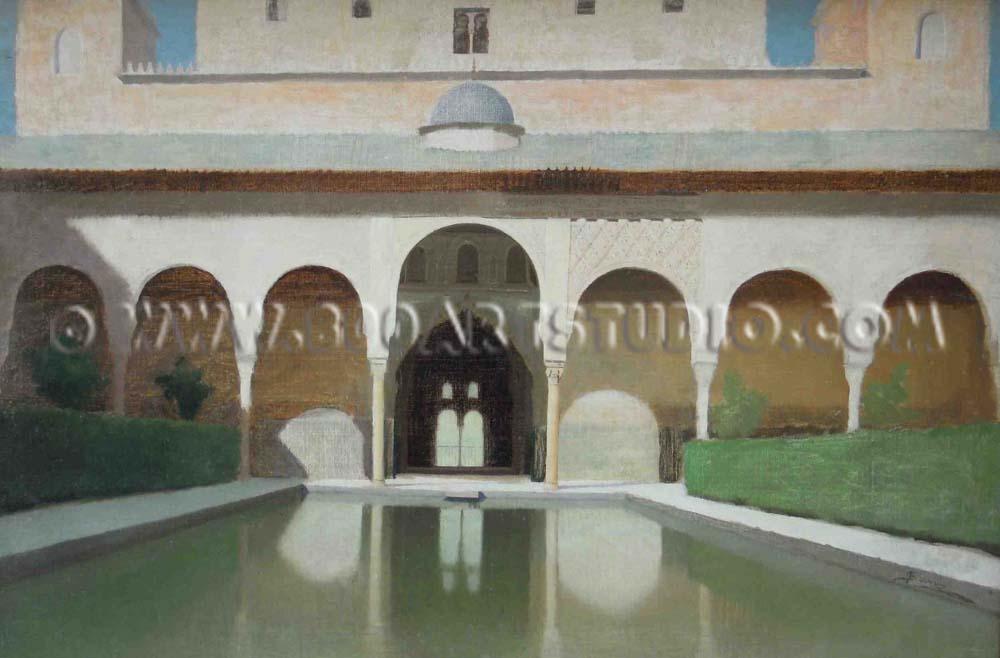 Filadelfo Simi - Alhambra, la piscina