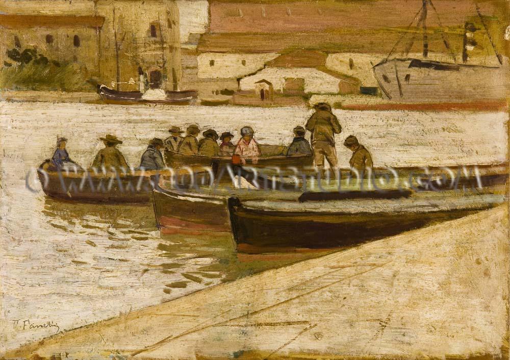 Francesco Fanelli - Il porto di Viareggio