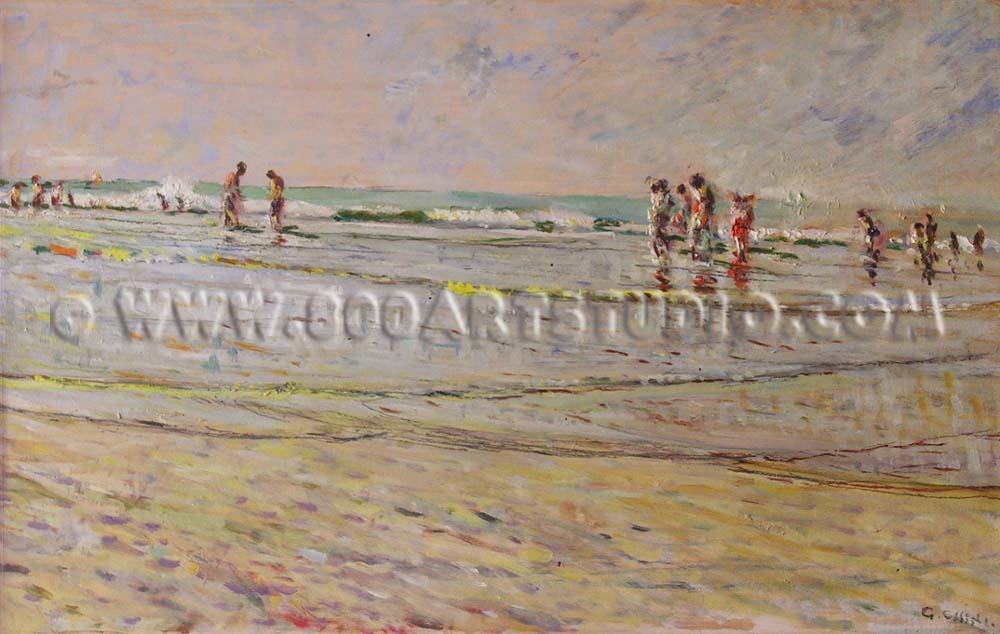 Galileo Chini - Spiaggia tirrena