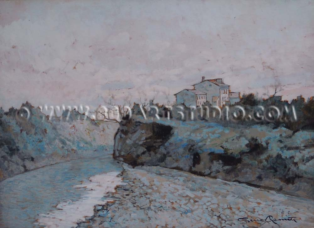 Gino Romiti - Paesaggio fluviale