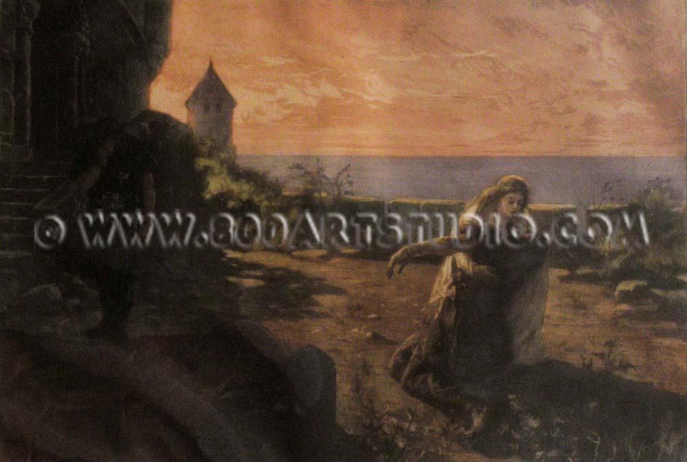 Lionello Balestrieri - La morte di Tristano