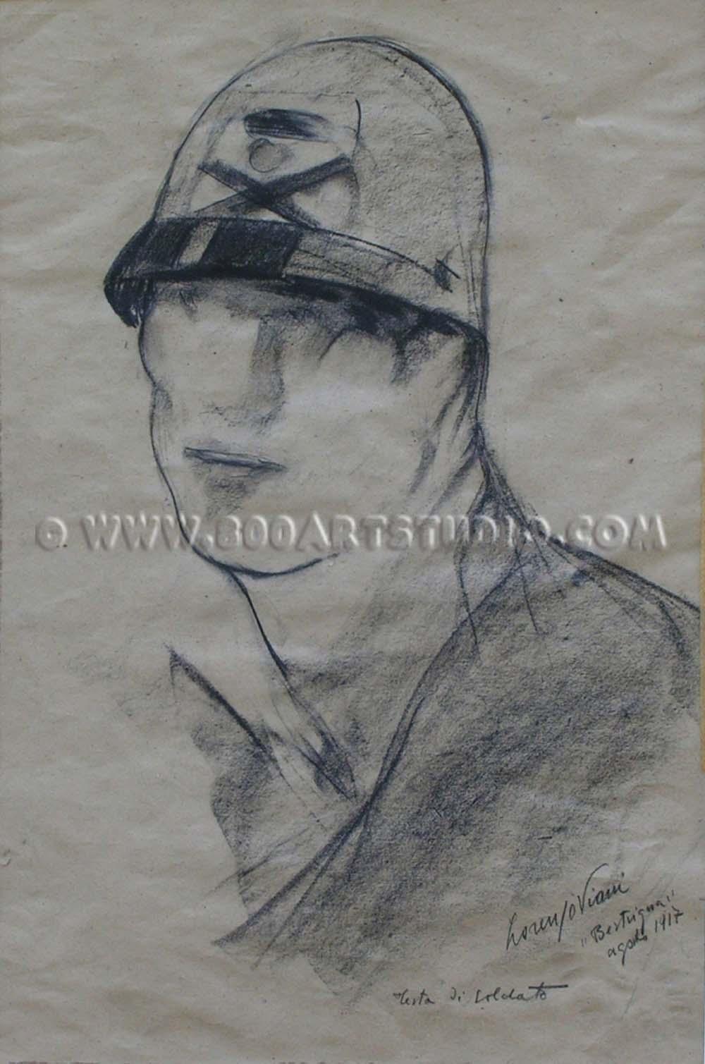 Lorenzo Viani - Testa di soldato