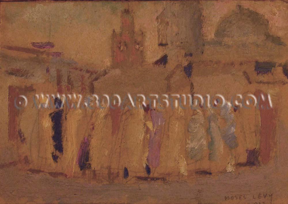 Moses Levy - Rassamblement devant la mosquée