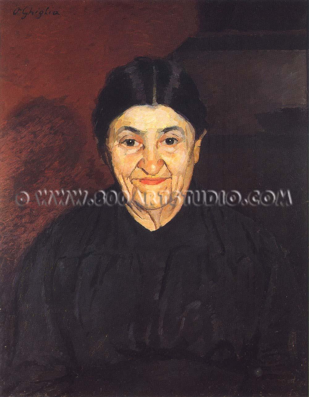 Oscar Ghiglia - Una vecchia signora di Castiglioncello