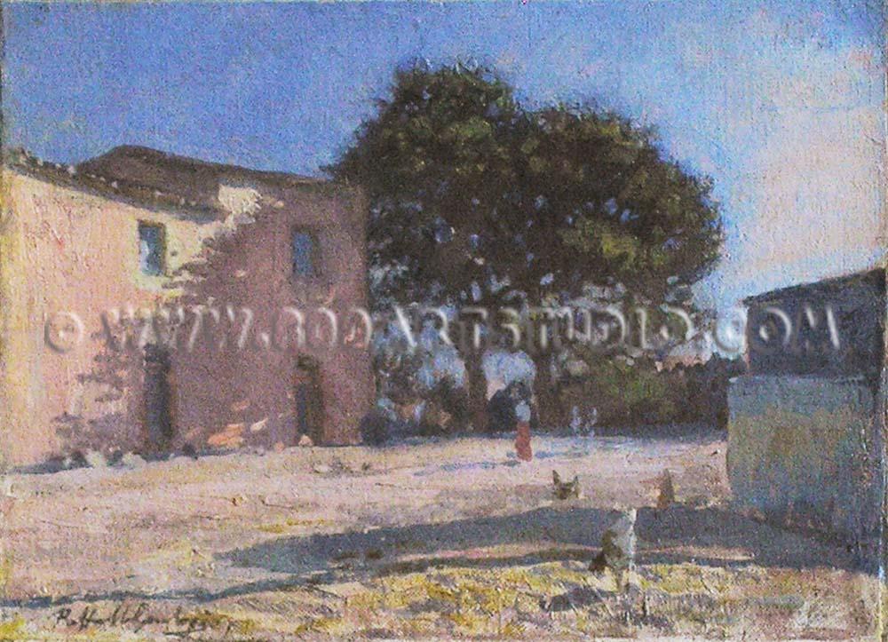 Raffaello Gambogi - Cortile rustico
