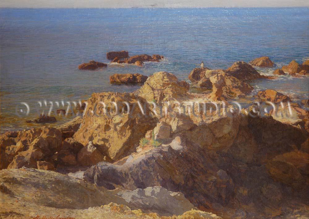 Raffaello Gambogi - Pescatorello ad Antignano