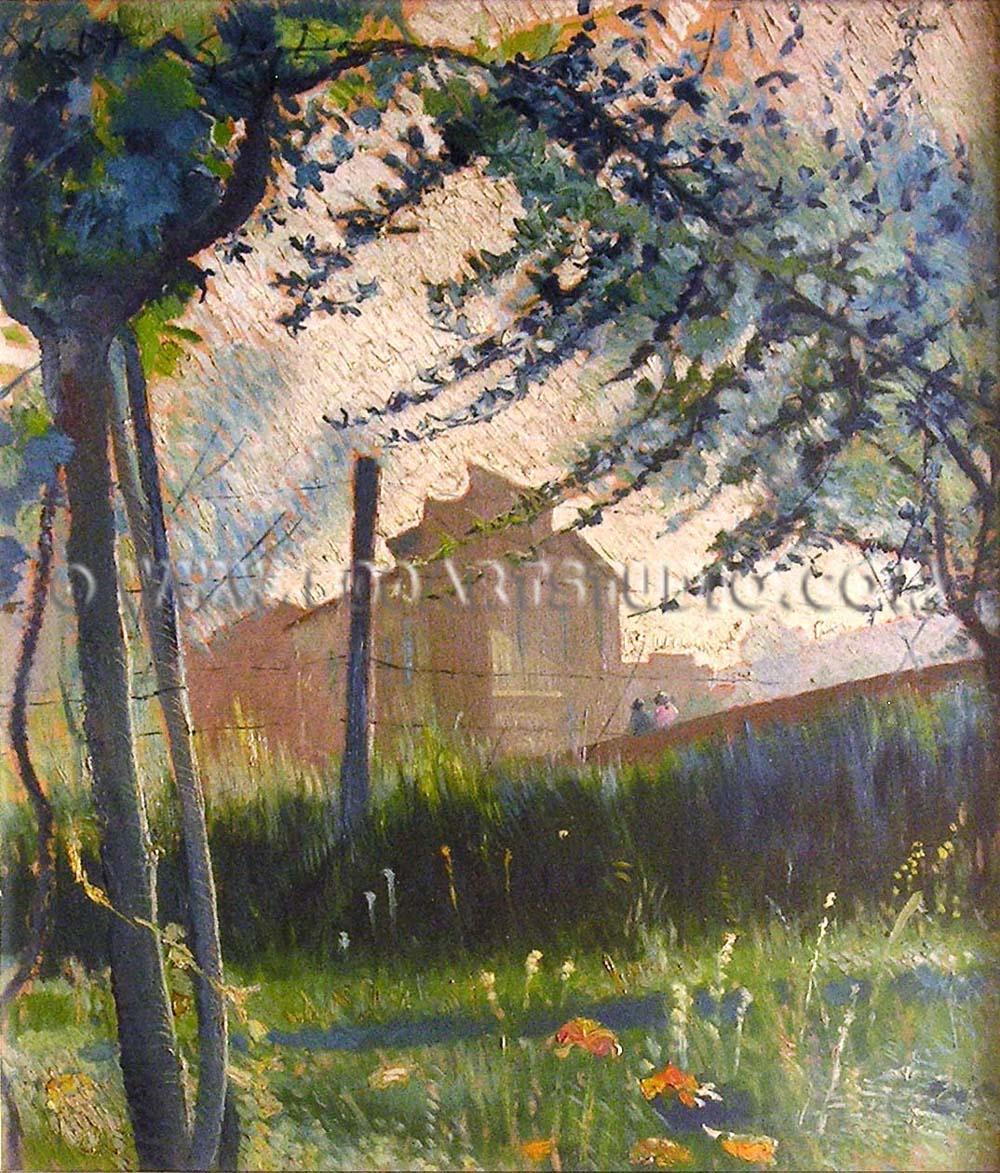 Valentino Ghiglia - Paesaggio in fiore